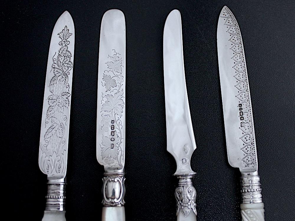 デザートナイフの刃の大きさくらべ。