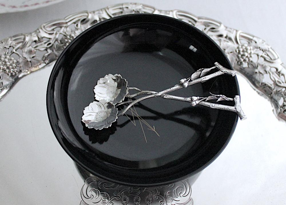 桜のソルトスプーン、明治時代ジャパニーズシルバーの魅力