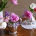 ミルクジャグに 花を生ける