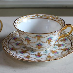 ♦︎ドレスデン、バラのティーカップ