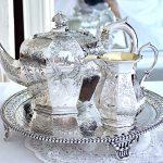 純銀ティーポットとクリーマー:ロンドン1841年