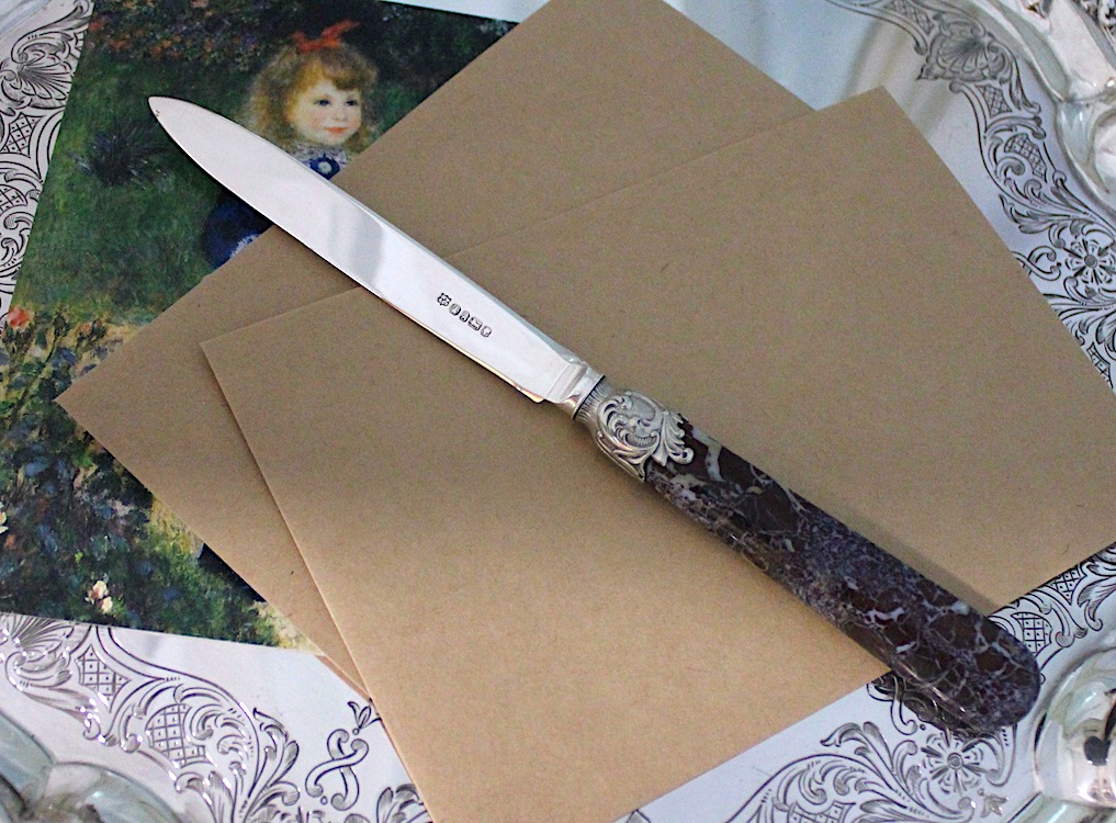 1868年シェフィールド、ペーパーナイフ - お買い得品