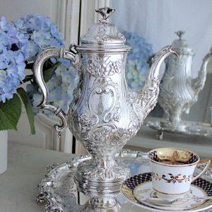 ジョージアンコーヒーポット 1820年ロンドンBarnard