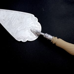 純銀サーバー、彫刻のハンドル 1904年シェフィールド
