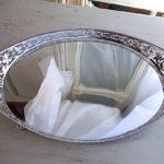 Sold:ピアスのギャラリートレー 楕円形 1012g,オランダシルバー