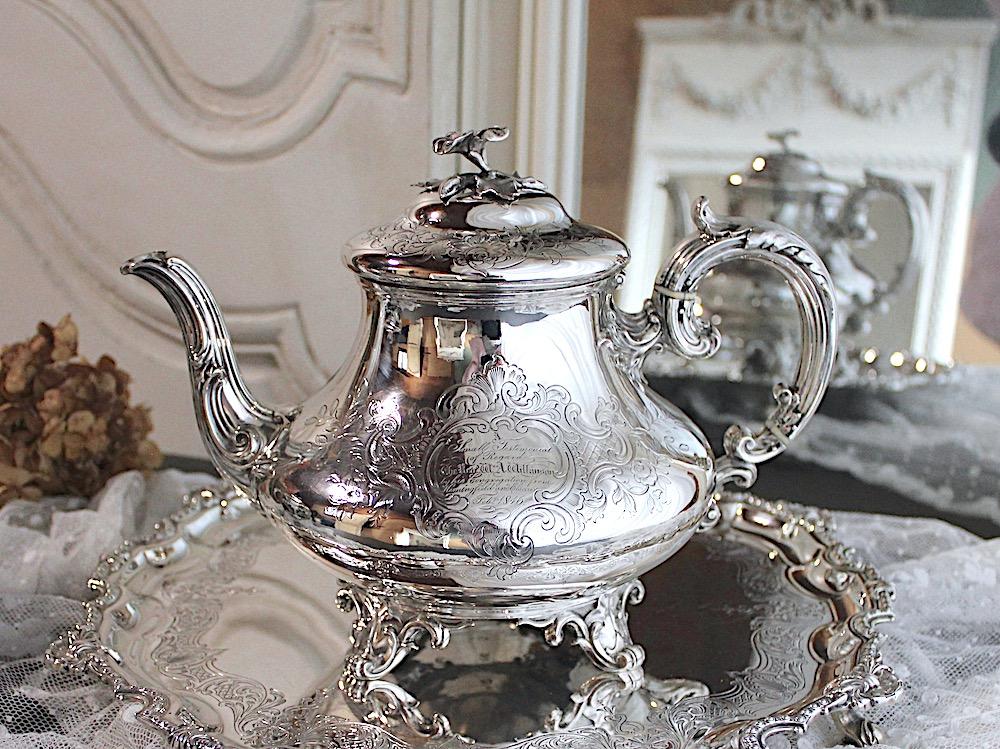 Sold:シルバーティーポットBarnard 1844年