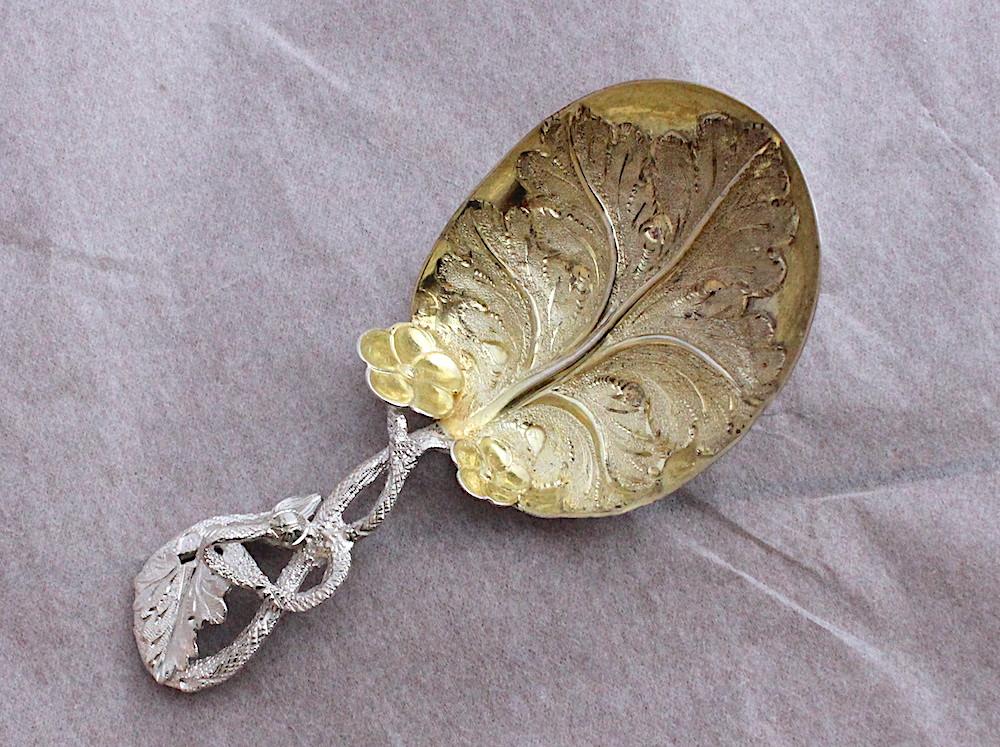 Sold:ティーキャディスプーン02 Hilliard & Thomason 1854年