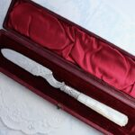 Sold:純銀レターオープナー白蝶貝 1854年 両面装飾